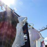 塗装工事中、洗濯は干せますか?